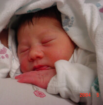Olivia Rice at birth May 2, 2004