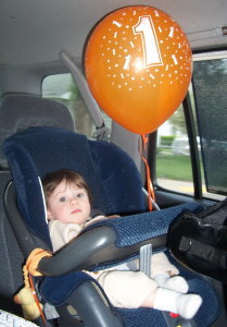 Olivia's 1st birthday balloon.